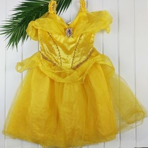 Girls Disney Princess Belle Dress Up Gown